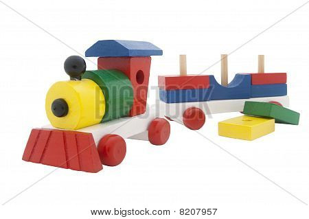 Multicolor Wooden Train