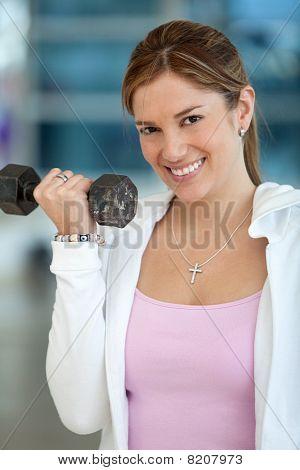 Frau Gymnastik Ausübung