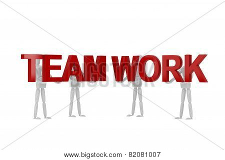 Team Work Word  In Isolate With Clipping Path