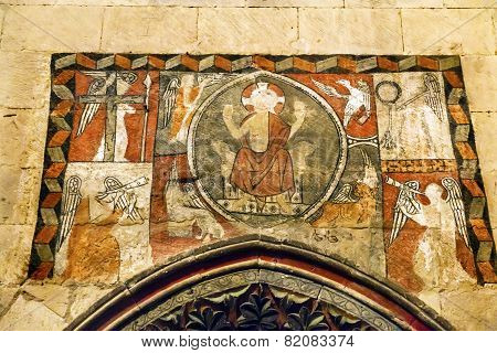 Ancient Mosaic Old Salamanca Cathedral Spain