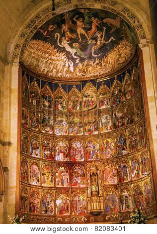 Ancient Apse House Old Salamanca Cathedral Spain