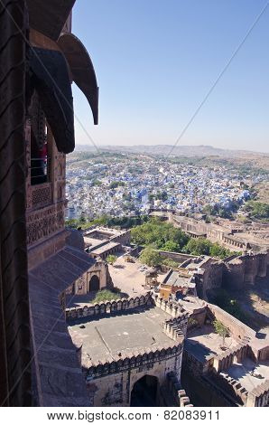 Jodhpur Blue City View From Mehrangarh Fort, Rajasthan, India
