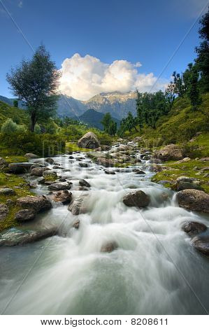Himalayan Mountains Stream Landscape