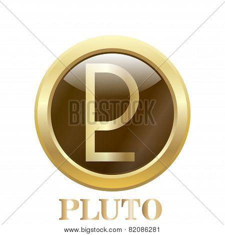 Pluto.vector Illustration.