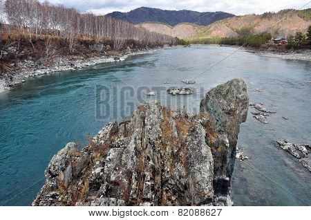 the rock is from the river in the mountains of Siberia
