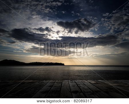 Scenery Of The Wooden Pier