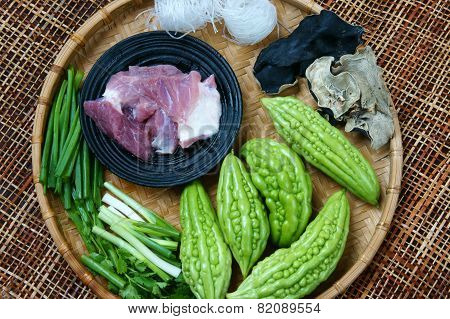 Vietnamese Food, Bitter Melon, Ground Meat
