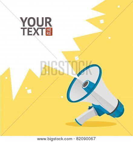 vector megaphone card