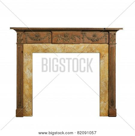 Old Original Adams Style Pine Fire Surround