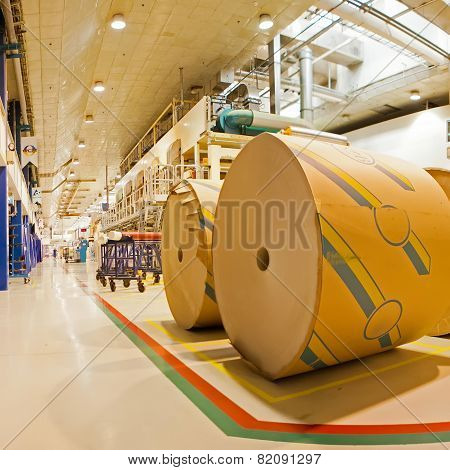 Rolls of cardboard