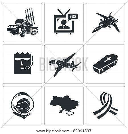 Fall Malaysian Aircraft Icons Set