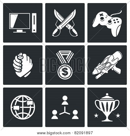 Electronic Sports Icons Set