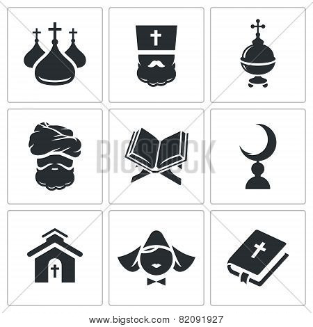 Religion Confessions Icon Set