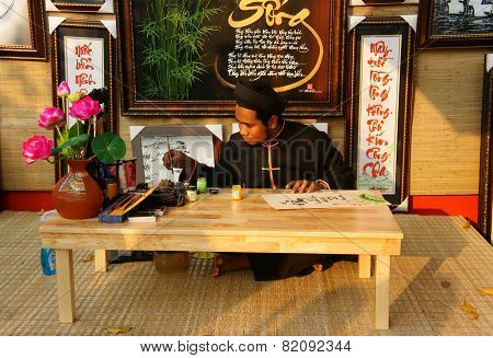 Vietnam Tet, Chinese Writing, Calligraphy