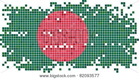 Bangladesh grunge tile flag. Vector illustration