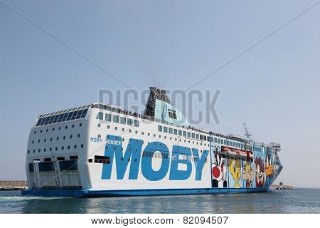 Moby ferry in Corsica