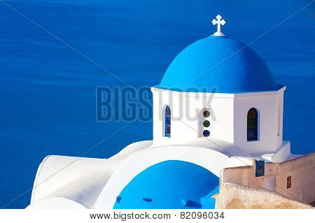 Oia church, Santorini, Greece