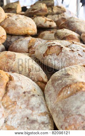 Freshly Baked Bread On A Market