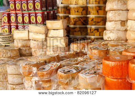 Cheese On A Market In Madrid