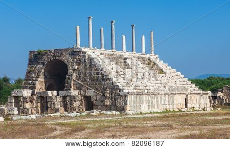 Ancient Roman ruins of Hippodrome in Tyre Lebanon