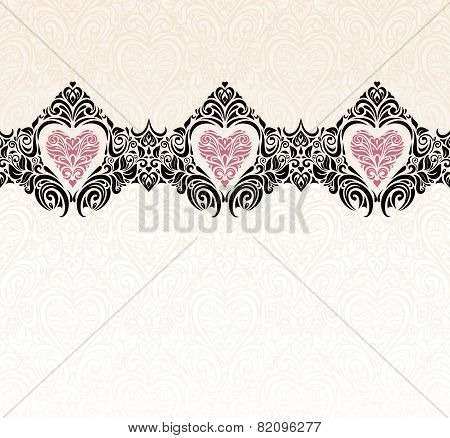 Vintage wedding modern invitation wallpaper background