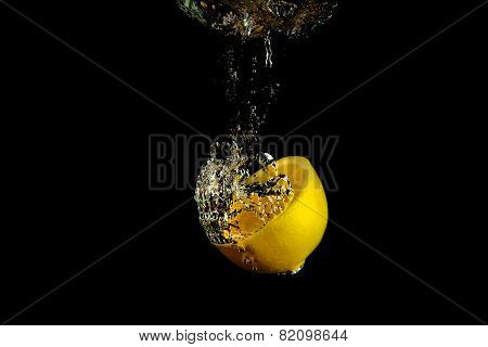 Falling Lemon Into Water