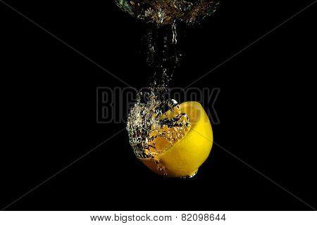 Falling Lemon Into Water