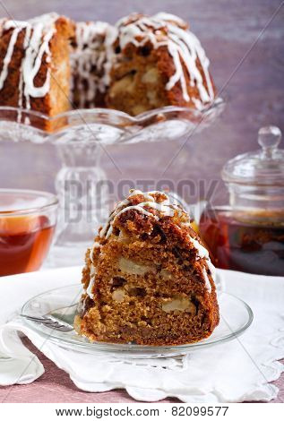 Apple Wholemeal And Honey Bundt Cake