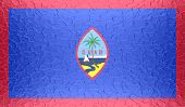 picture of guam  - Closeup of Guam flag on metallic metal texture - JPG
