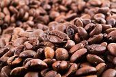 stock photo of coffee crop  - Brown coffee background texture - JPG