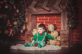 picture of christmas baby  - Christmas photoshoot for baby boy in Ukraine - JPG