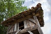 picture of hen house  - Old wooden hen house in the countryside - JPG