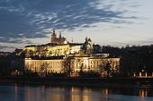 pic of mikulas  - Prague Castle with building of parliament and government in foreground - JPG