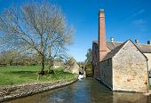 image of slaughter  - Cottages in the beautiful Cotswold village of Lower Slaughter - JPG