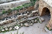 pic of crusader  - Inside the ancient crusader fortress at Byblos - JPG