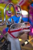picture of carousel horse  - Detail of plastic horse on a carousel - JPG