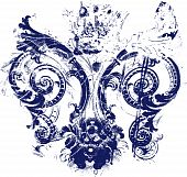 picture of fleur de lis  - fleur de lis symbol texture for your label - JPG