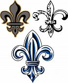 image of fleur de lis  - fleur de lis shield for your label - JPG