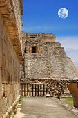 Moon on Uxmal