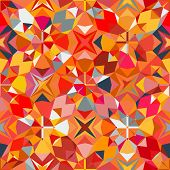 stock photo of color geometric shape  - Colorful geometric abstract pattern with variety of shapes and colors in 1970s fashion style - JPG