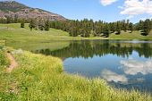 stock photo of lamar  - Trout Lake in Yellowstone - JPG