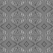 pic of distort  - Design seamless monochrome whirl lines background - JPG