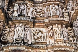 foto of kamasutra  - Erotic Human Sculptures at Vishvanatha Temple Western temples of Khajuraho Madhya Pradesh India - JPG