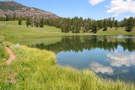 stock photo of lamar  - Trout Lake in Yellowstone - JPG