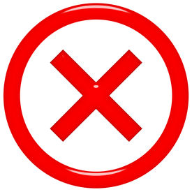 picture of x-rated  - 3d rejected or rated X sign isolated in white - JPG