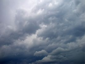 picture of ozone layer  - Dark dramatic sky with clouds natural background - JPG
