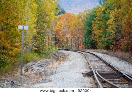 Railroad In Fall Foliage