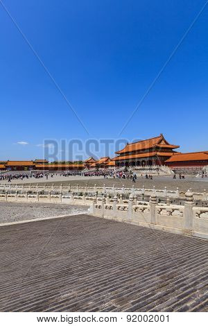 The Gate Of Supreme Harmony With Tourists