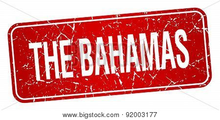The Bahamas Red Stamp Isolated On White Background