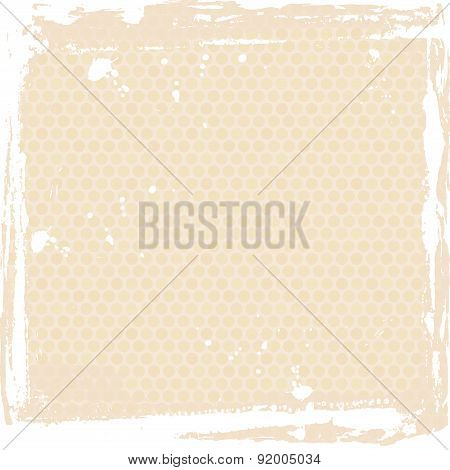 Abstract grunge frame. beige Background template. Vector